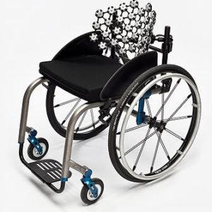 Free Form seating mounted ontowheelchair