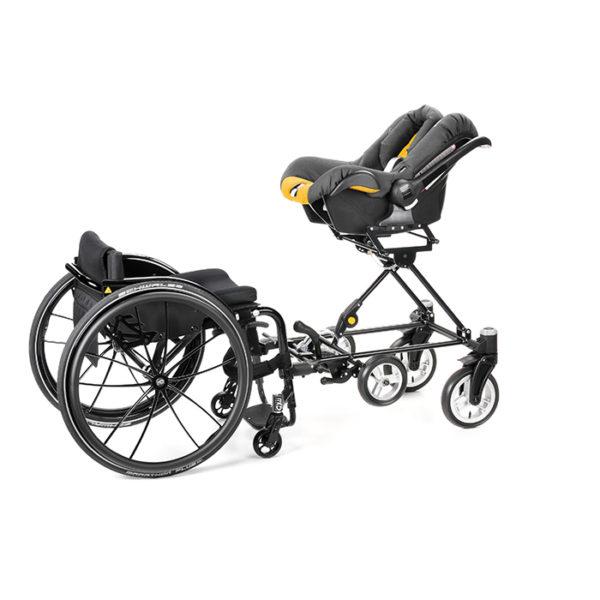Cursum wheelchair baby seat attachment